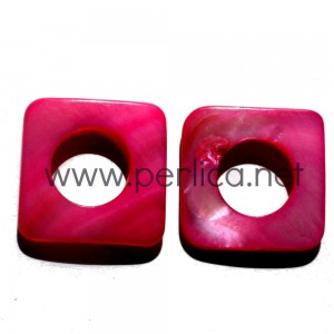 Sedef perla kvadrat 25x25 mm Roze