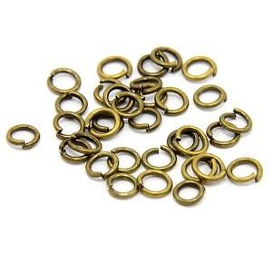 Metalne alke 6 mm Bronza ca 173 komada