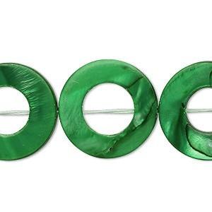 Sedef tocak 20x20 mm Zelena
